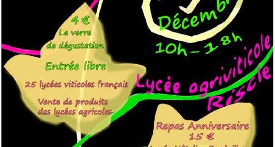 10ème Salon des vins : Samedi 1er décembre