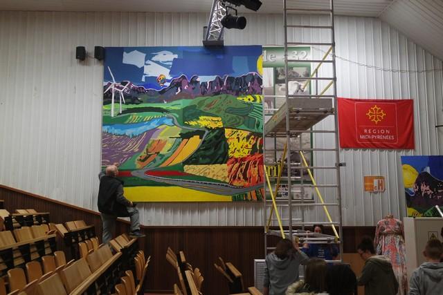 Charles Deflorenne accompagne la création des élèves du lycée agricole
